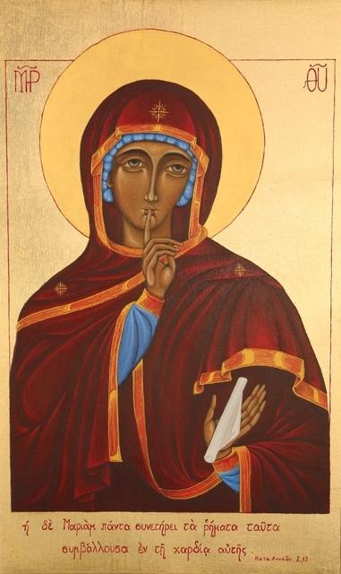 Zdjęcie ikony Matki Bożej Milczenia